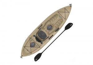 brown boat with paddle